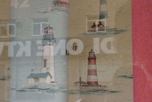 Even I'm quite attracted to this material. I love a good lighthouse. Living room curtains perhaps?