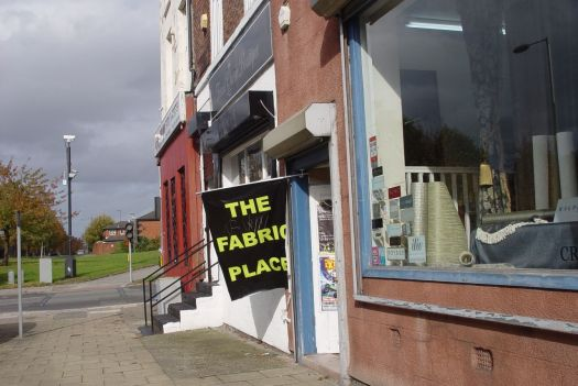 There are other fabric shops along here too.