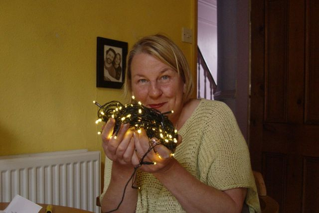 Until we get home and Sarah shows me the sparkly light she's bought for the coming darkling days on the allotment.
