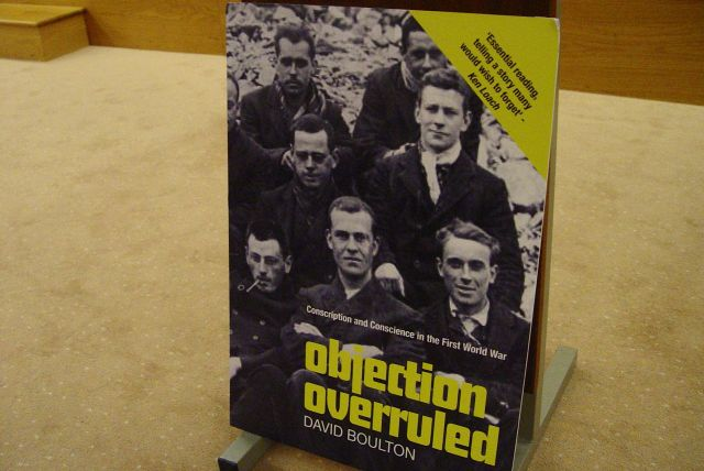 To hear about peace, and the conscientious objectors of the Great War.