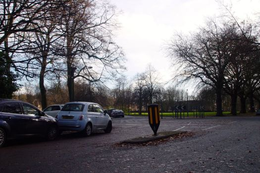 Passing Sefton Park Meadows, the scene of much popular protest.