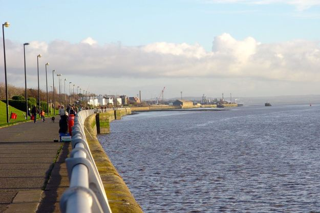 Grassendale and Garston Docks upstream.