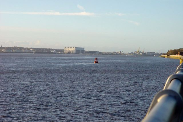 Birkenhead and the city downstream.