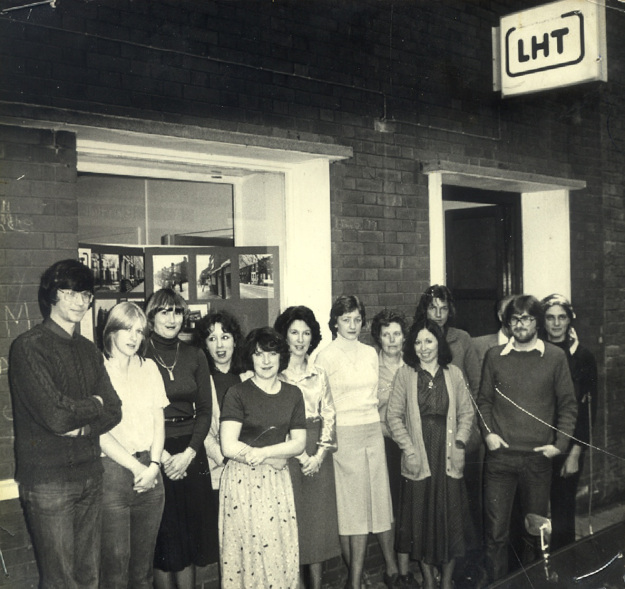 Early 1980s. A small neighbourhood based housing association team. One of the very best.