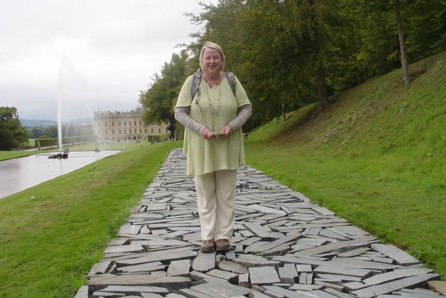 Sarah at Chatsworth, on her birthday day out.