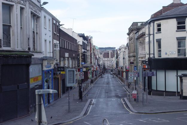 Bold Street, Christmas Day 2013.