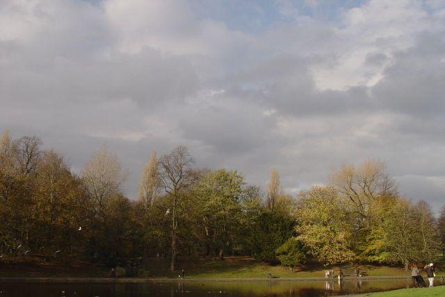 Remembrance Sunday, in Sefton Park.