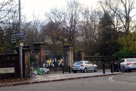 Past the Princes Park Gates.