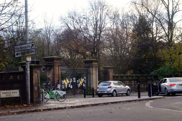 Past the Princes Park Gates.