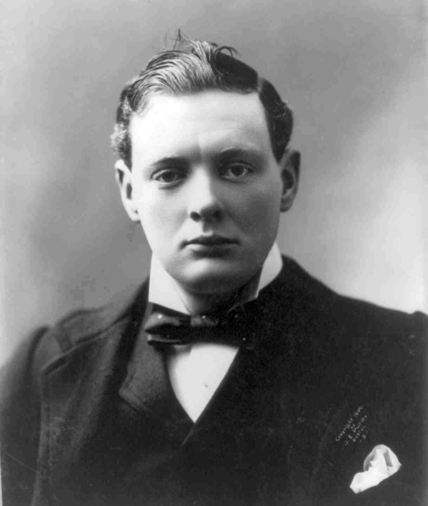 Winston Churchill, age 26, in 1900.