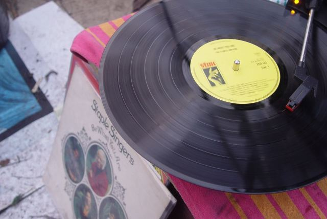 And bathed in the sacred sounds of the Staple Singers on Stax.