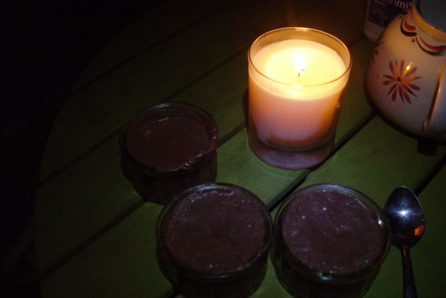 With the Chocolate Mousse for afters they made back at the house earlier.