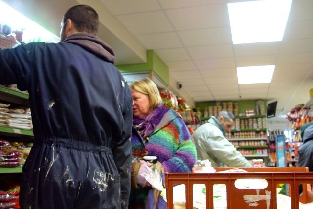 Entrancing our two featured shoppers.
