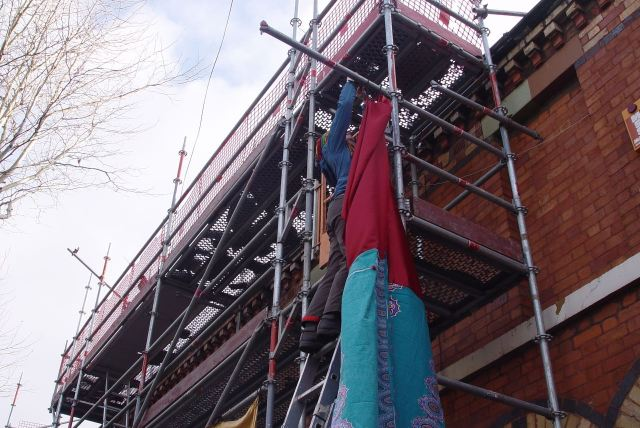 With our Gemma there, up at the top of the ladder.