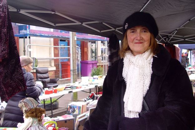 Stallholder Diane. Never, to my knowledge missed a 4 Streets Market yet.