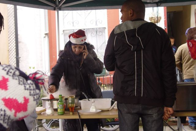 And there is wonderful food from lots of people. Which keeps lots of people warm enough to stay around as the afternoon gets colder.