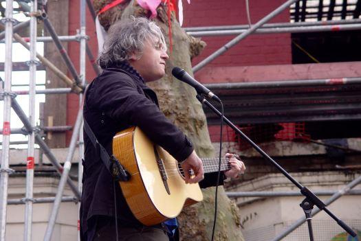 Singing in Cairns Street.