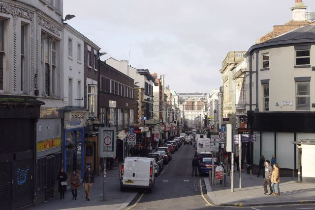And into Bold Street.