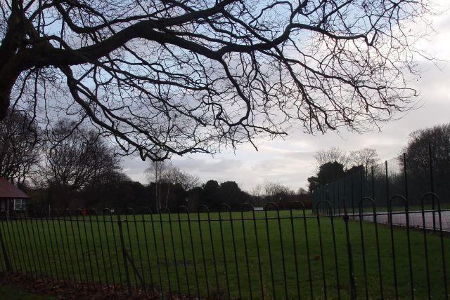 Crossing Sefton Park.