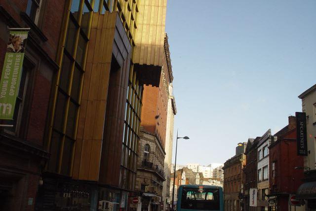 Along Hanover Street, past Herbert's Golden Hairdresser's.