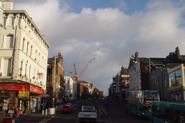 Where a crane has invaded.