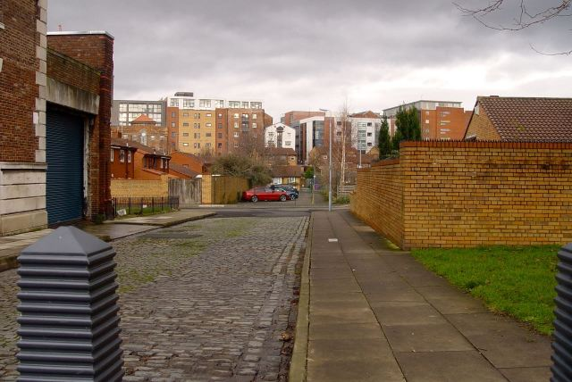 On the left the Hatton-era housing that gets so close to the city centre.