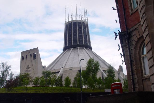 The Catholic Cathedral in Liverpool today.