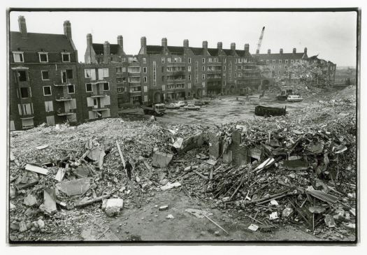 The destruction of Tommy White Gardens.