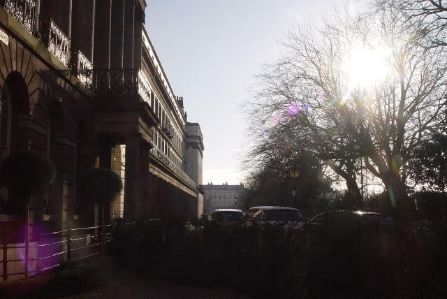 Looking along sunny Gambier Terrace.