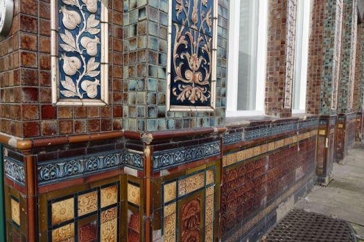 No longer a pub, but still with the pub's intricate tile work.