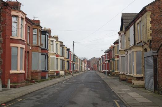 Into the streets blighted by John Prescott's Housing Market Renewal Initiative.
