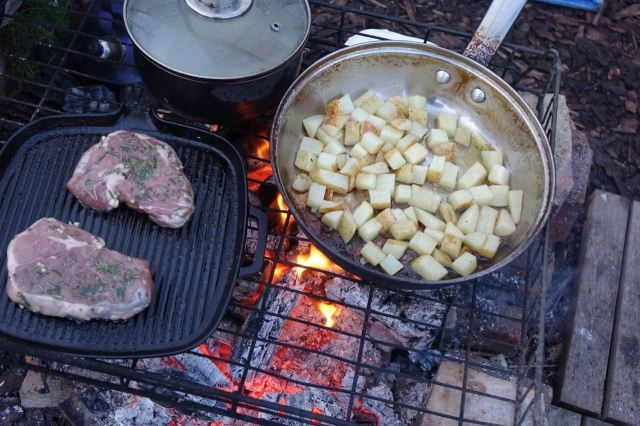 Then their favourite Lamb Dinner being prepared.
