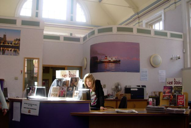 Librarian at work, Wavertree.