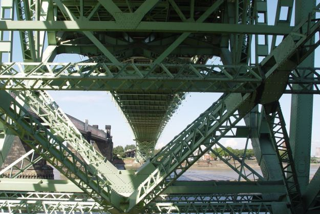 The Widnes to Runcorn Bridges.
