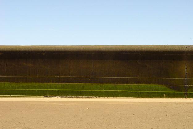 The sea wall at Harrison Drive.