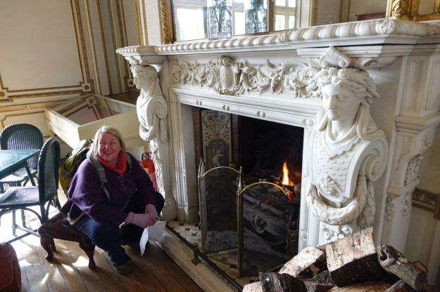 And look at the fireplace.