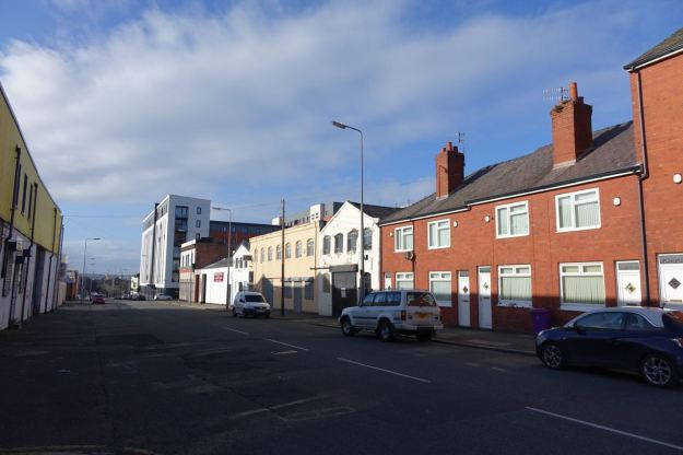 Stanhope Street, once some of the closest housing to the city centre.
