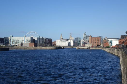 I cross the main docks road to here. Half a mile or so from the city centre.