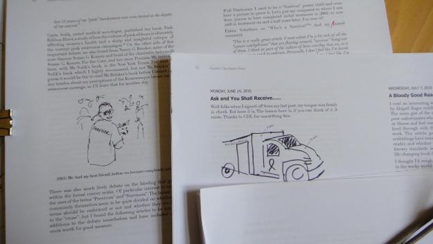 Working on Rachel's book.