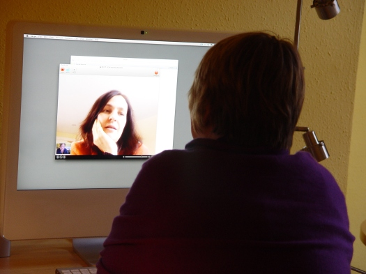 January 2011, Rach and Sarah in 'marathon' Skype (Rachel's word).