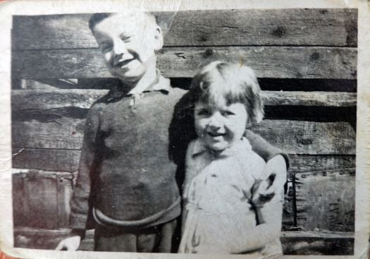 My Dad, Joe Hughes, with his sister Terry.