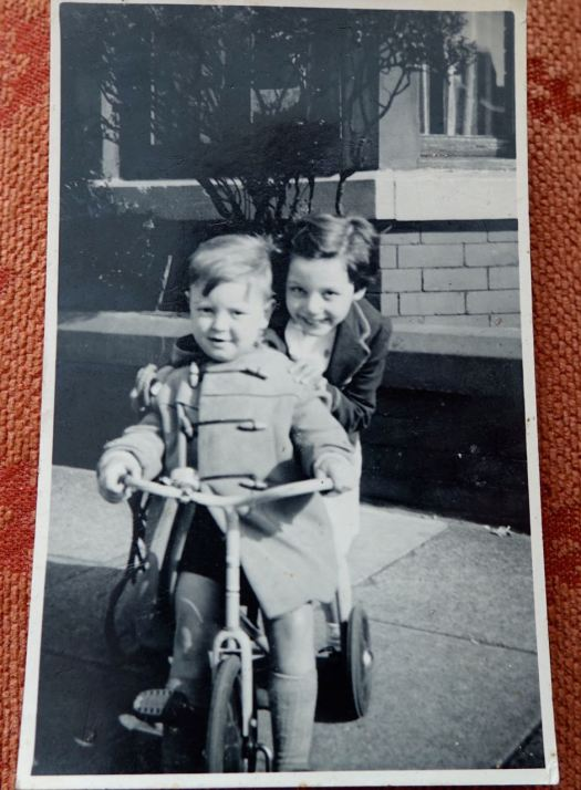 Here I am with one of the 'big girls.' Me, aged 3.