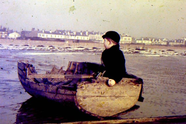 Young John in his first boat. At Waterloo in 1961.