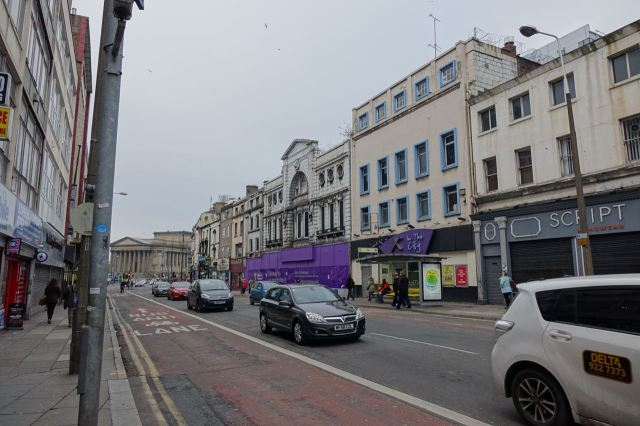 Lime Street looking particularly forlorn on a slate grey day.