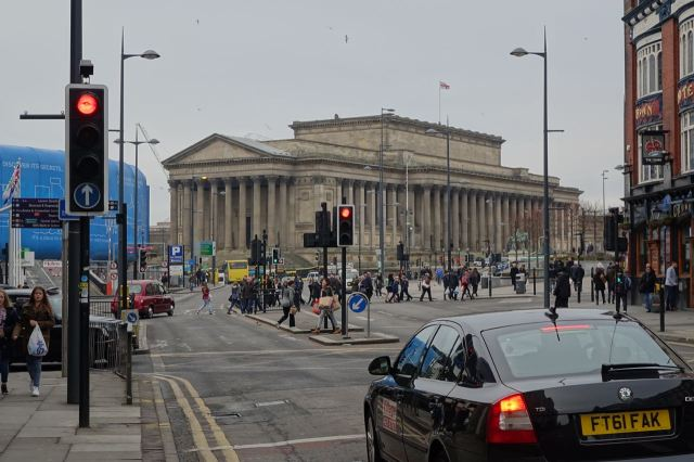 Towards St George's Hall.