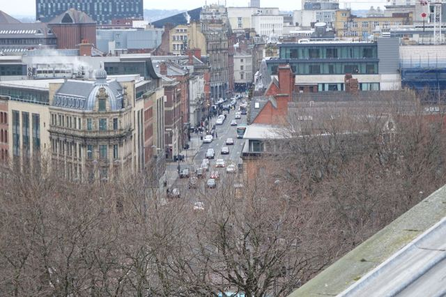 Looking down along Victoria Street.