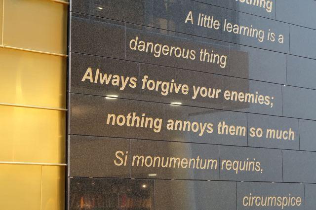 Wise words always relevant.