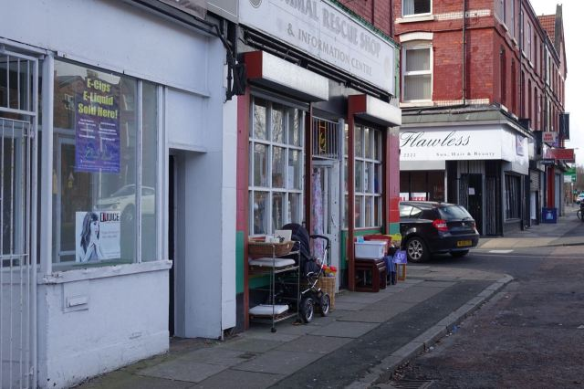 Including a fair number of charity shops like this one.