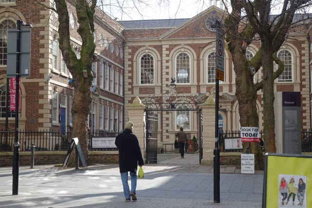 Then past the Bluecoat to somewhere quieter.