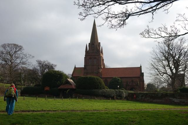 At the top of the road we reach Thurstaston, St Bartholomews.